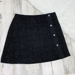 Cato Side Button Up Textured Mini Skirt Sz 4
